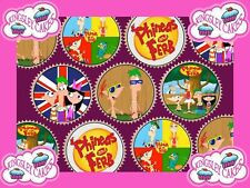 30 x PHINEAS & FERB PREMIUM QUALITY CUPCAKE TOPPERS EDIBLE RICE WAFER PAPER 191