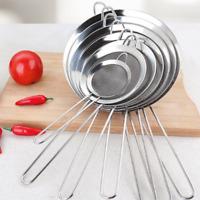 Kitchen Stainless Steel Wire Fine Mesh Oil Strainer Flour Sifter Sieve AU stock