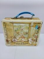 Vintage Crabtree & Evelyn London Beatrix Potter Metal Tin Lunchbox Peter Rabbit