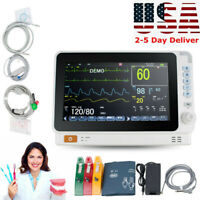 "10"" Mini Medical Dental Patient Monitor ICU CCU Vital Sign Cardiac Machine FDA"