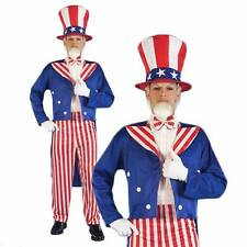 Uncle Sam Fancy Dress USA America 4 July Independence Stars & Stripes Costume