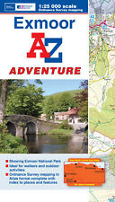 Exmoor Adventure Atlas by A-Z Maps (Paperback, OS 1:25000 mapping)