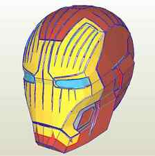 DIY PEPAKURA IRONMAN MK42 MK7 HELMET PAPER KIT COSPLAY. NOW FREE SHIPPING