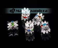 Charms 9x10mm Glass Alloy Crystal Rhinestones Metal Loose Spacer Beads Findings
