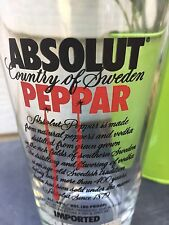 Absolut Peppar 16-fl oz Bar Glass Craft Vodka Beer Pints