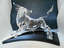 Swarovski Large Crystal Bull Figurine 2004 Limited Edition #05239 of 10,000 wBox