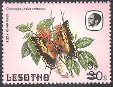 Lesotho 1984 Butterflies/Insects/Nature 9s on 30s surcharge SHORT BARS 1v b2391a