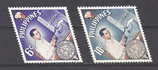 PHILIPPINES ,1961 , HONORING EMPLOYEES , SET OF 2 ,  PERF,  VLH