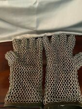 Cosplay costume chain mail gloves gauntlets theater medieval