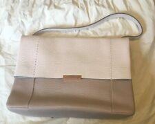 New Ted Baker Proter Real Leather Large Shoulder Bag Light Pink Cream Beige