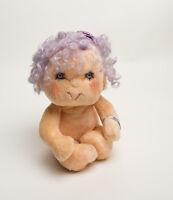 Vintage Impkins Hugga Bunch Dolls Purple Hair 1985 Plush Girl 1980s Toy Kenner