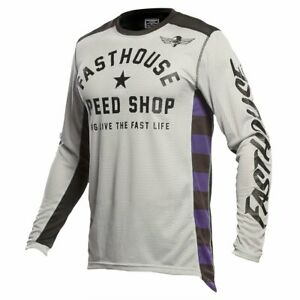 New Fasthouse Silver/Black Originals Air Cooled Jersey MX/Offroad Adult Sizes