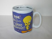 WARNER BROS. STUDIO STORE TWEETY PIE  YOU ARE NO MATCH...... JUMBO MUG