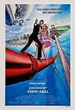 James Bond: * A View to a Kill  * Roger Moore Poster 1985 Large   Format 24x36