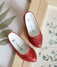1/3 bjd SD13 SD10 girl doll red glitter flat shoes dollfie dream Luts SDF shipUS