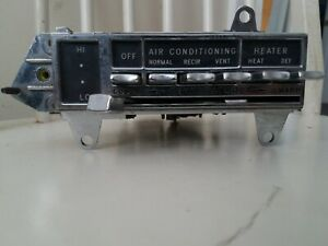 1964 Oldsmobile Starfire Jetstar Temperature Controls Air Conditioning Switch...