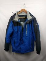 Mens Regatta Blue Black Hooded Waterproof Breathable Coat Jacket Size Small #4I2