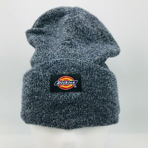 Dickies Knit Cap Beanie Cuffed Hat Skully Logo Gray  One Size