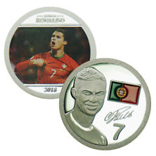 Wr Portugal Superstar Cristiano Ronaldo Collector Gold Plated Commemorative Coin
