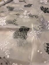 Glamorous Embroidered Sheer Voile In Gray/Silver For The Holidays