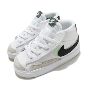 Nike Blazer Mid 77 SE TD Double Swoosh White Vapor Green Toddler Baby DD1849-100