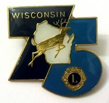 Pin Spilla Lions International 75° Wisconsin USA