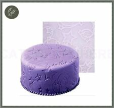 LARGE FONDANT STAR SILICON MAT ICING IMPRINT IMPRESSION TEXTURED CAKE DECORATING