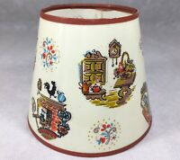 """Vintage Mid Century Clip On Lamp Shade 6 5/8"""" Tall Rooster Clocks Furniture"""