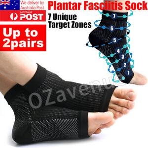 2pc 4pc Plantar Fasciitis Compression Socks Foot Sleeve Ankle Brace Achy Heel AU