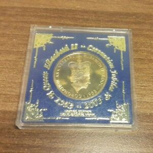 Queen Elizabeth II - Coronation Jubilee Medal / Coin 1953 - 2003