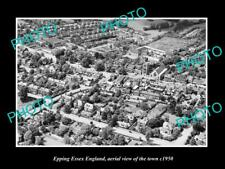 OLD LARGE HISTORIC PHOTO OF EPPING ESSEX ENGLAND, AERIAL VIEW OF TOWN c1950 2