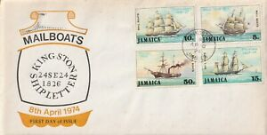 1974 Jamaica FDC cover Mailboats