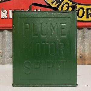 Plume Motor Spirit Running Board 2 Gallons Embossed Vintage Petrol Can Tin
