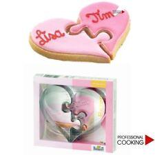 Birkmann set stampo per biscotti design cuore puzzle San Valentino