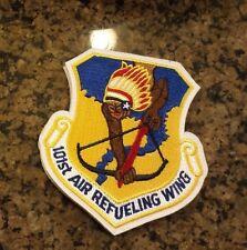 U.S.A.F. PATCH, 101ST AIR REFUELING WING, HOOK LOOP FASTENER