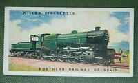 Northern Railway of Spain  4-8-0 Steam Locomotive   Original Vintage Card
