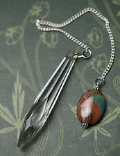 Antique Glass & Gemstone Pendulum for divination - Pagan, Wiccan, Witchcraft