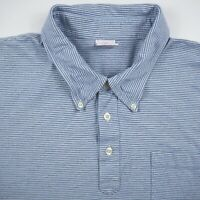 Brooks Brothers Blue Striped Men's Size 2XL XXL Short Sleeve Polo Shirt Used