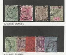 Straits Settlements, Postage Stamp, #83-85, 87, 93-97 Used, 1892-1902