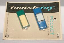 Tootsietoy Pocket Series, HO Scale, 1960 Cadillac, Rambler Station Wagon, Carded