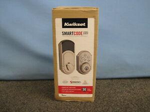 NEW Kwikset SmartCode 910 Touchpad Keyless Entry Deadbolt Z-Wave Smartkey Nickel