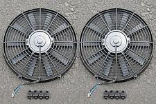 "TWO THIN/SLIM RACING Radiator Fan 12"" Eclipse DSM 1G 2G"