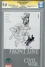 Civil War Front Line 1 CGC 9.8 SS WWCH sketch variant Stan Lee Avengers Iron Man