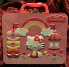 Hello Kitty Metal Lunchbox with Raised Design & 100 Piece Puzzle of Cover Sanrio