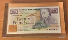 More details for *northern ireland* *northern bank* *£20 note specimen* *within resin block* 1993