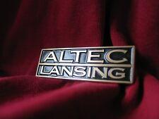 Altec Lansing brass logo badges pair