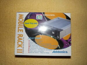 Addonics AAHDSA35CS-R Mobile Rack II enclosure SATA drive Black