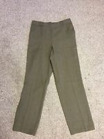 Ex Marks and Spencer Pull On Elasticated Backed Straight Leg Khaki Trousers