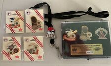 World Series 2002 Anaheim Angels SF Giants Disney cast exclusive 7 pins +lanyard