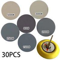 800-5000 Gravier 7.6cm Sablage Disques Ponceuse Papier Hook & Loop Patin Etanche